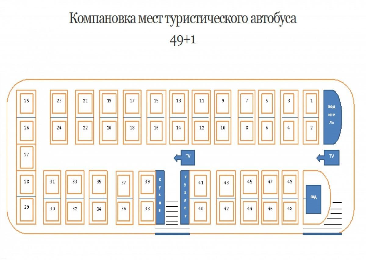 Схема мест в неоплане фото 196